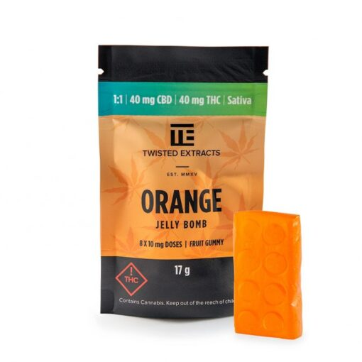 Twisted Extracts Orange 1 to 1 Jelly Bomb | Buy CBD Online Canada