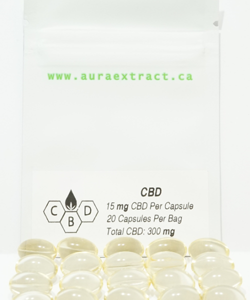Aura CBD Pills 300 mg | Buy CBD Online Canada