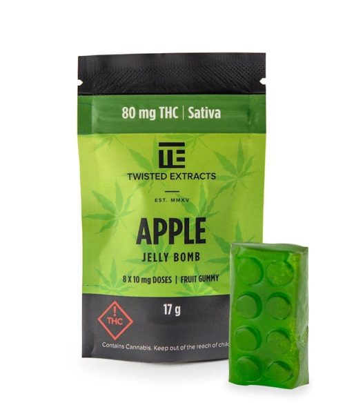 Twisted Extracts Sativa Apple Jelly Bomb | Buy CBD Online Canada