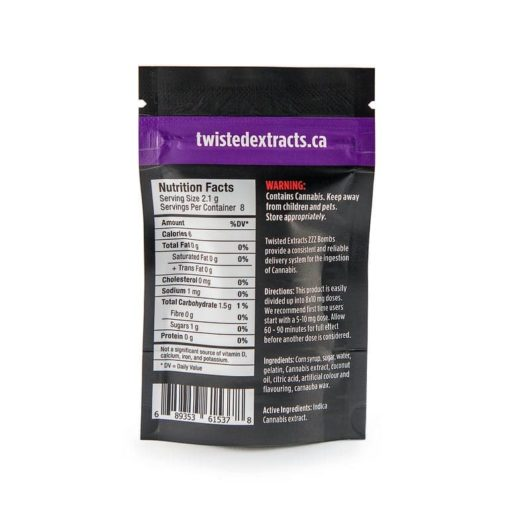 Twisted Extracts Indica Raspberry ZZZ Bomb | Buy CBD Online Canada
