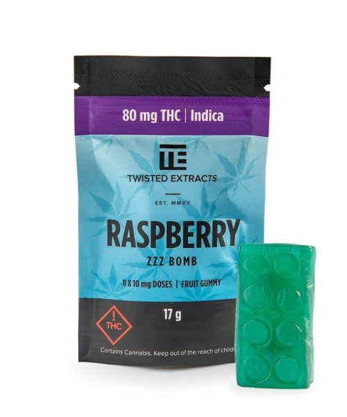 Twisted Extracts Indica Raspberry ZZZ Bomb | Buy CBD Online Canada