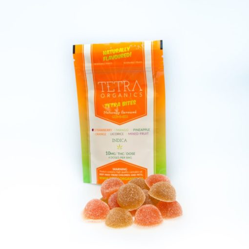 Tetra Bites Gummy Candies - Sativa 10mg | Buy CBD Online Canada