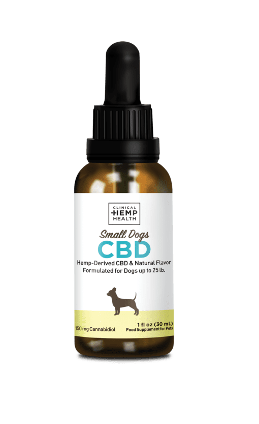 Clinical Hemp Health Small Dogs CBD 150 mg | CBD & Shrooms