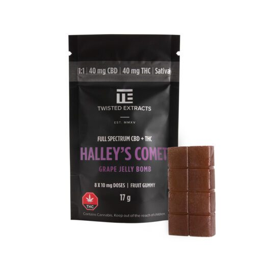 Twisted Extracts Halley's Comet CBD THC Grape