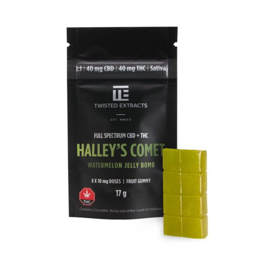 Twisted Extracts Halley's Comet CBD THC Watermelon